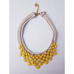 Never Worn! Bright Yellow Statement Necklace